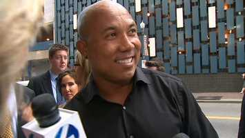Former Steelers wide receiver Hines Ward plays a member of the Gotham Rogues football team in the movie.