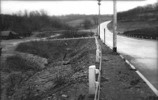 Washington Road just before the intersection with Connor and Gilkeson Roads in the 1930s and '40s.