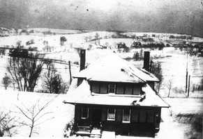 This picture was taken looking from Washington Road at the back entrance of 741 Florida Avenue. This was the view back in the early 1900s before the area was developed.