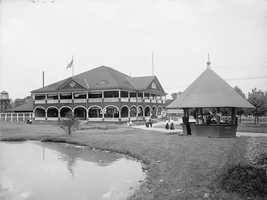 These first few photos are from 1906, during the early days of Kennywood Park.  This is the Casino building, added to the park in 1899.