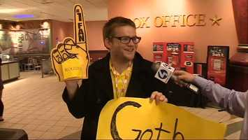 A Batman fan turned his Pittsburgh Steelers foam finger into a piece of Gotham Rogues merchandise.