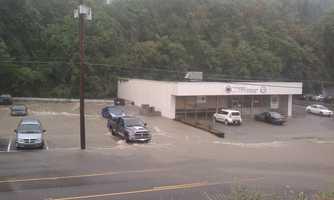 Flooding on Route 51 in Pleasant Hills