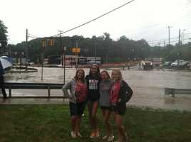 Brianna Williams, Brittany Williams, Meghan Wargo, Catie Ruscak on Clairton Boulevard