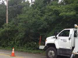 A severe morning storm caused damage in Murrysville.