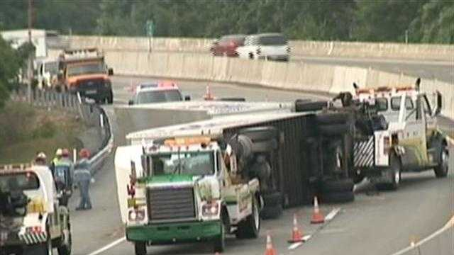 TRACTOR-TRAILER OVERTURNED