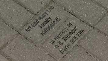 A brick dedicated to Rev. Barry Ritenour