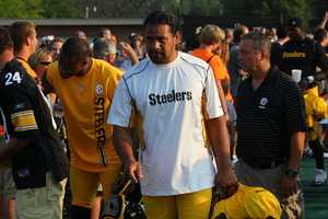Troy Polamalu (43) enters Latrobe StadiumDid you take any photos at training camp? Share them with us by clicking here or e-mailing ulocal@wtae.com.  You can see viewer photos by clicking here.