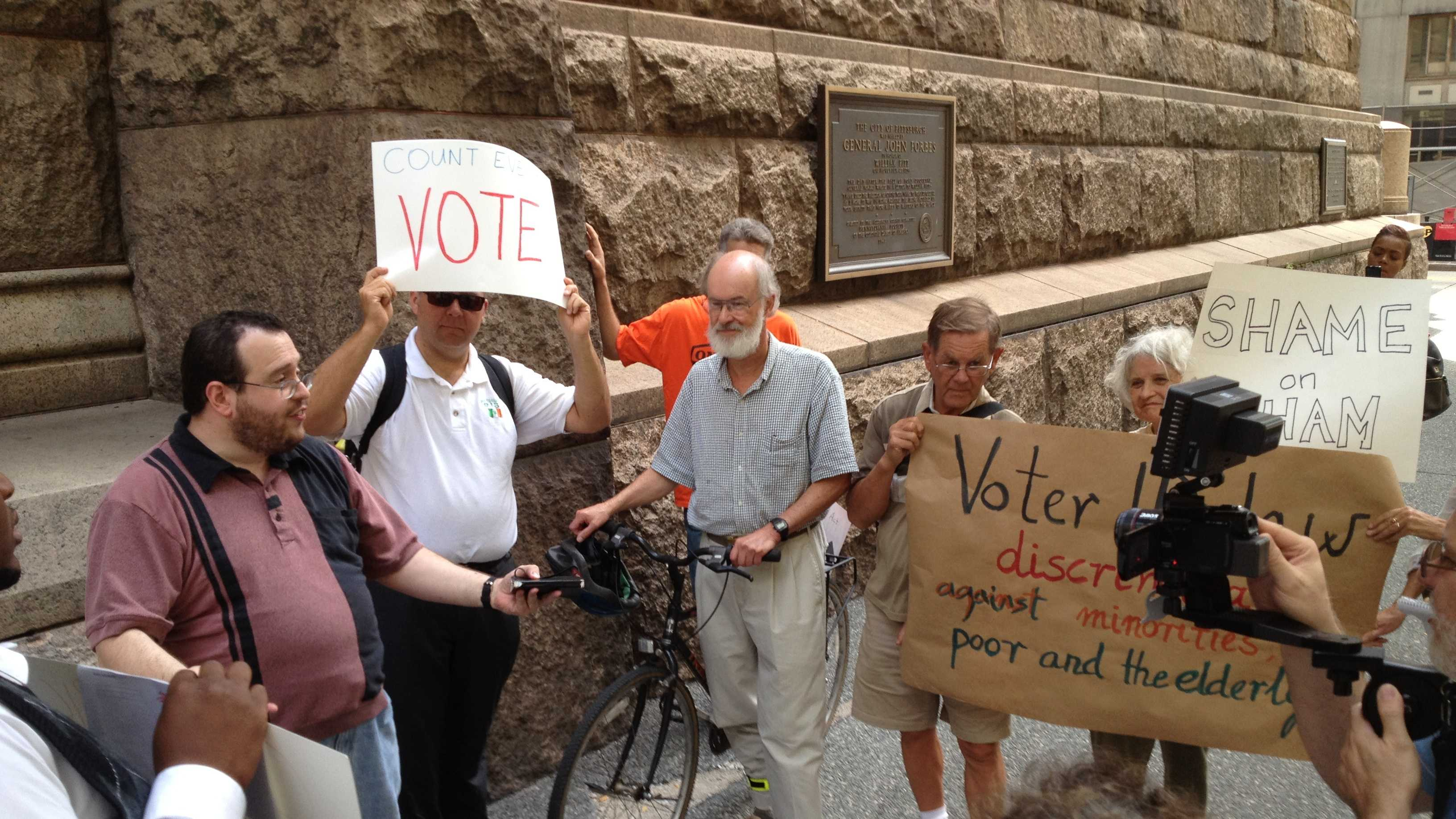 Voter ID rally