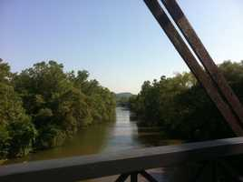 The view from 30th Street Bridge.