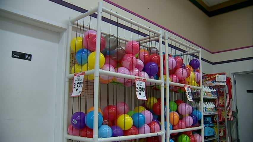inflatable ball storage rack