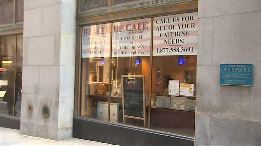 Health Up Cafe window
