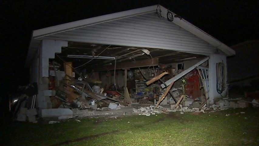 car into Bullskin Township garage 01