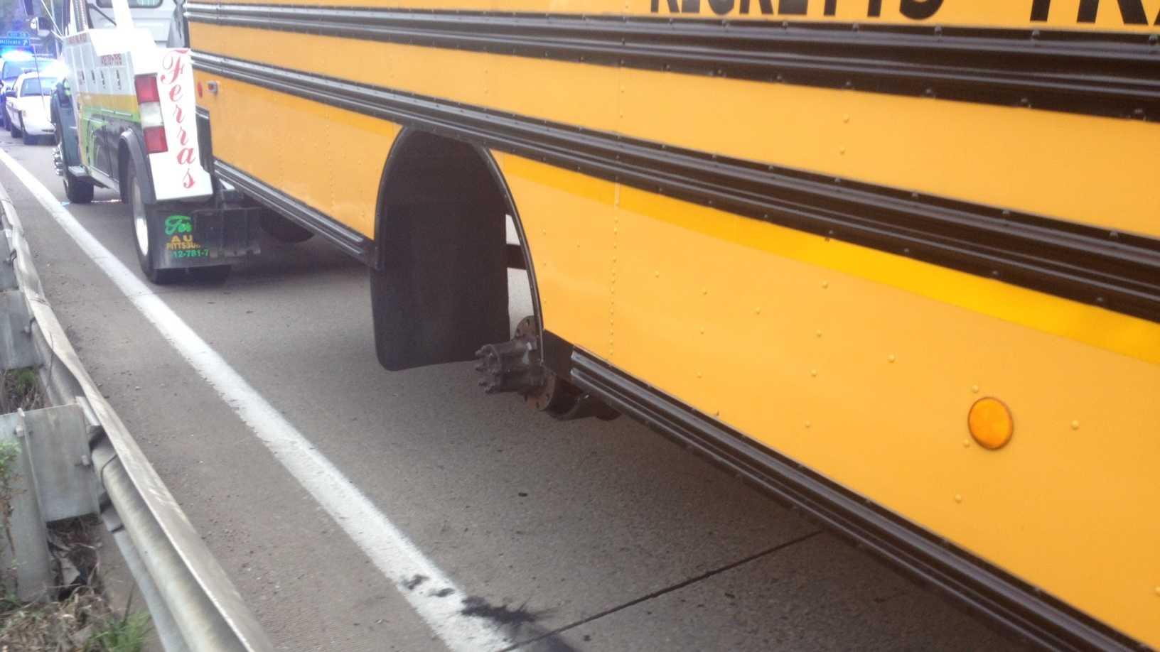 Bus wheel accident 2