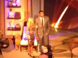 "Kelly Ripa and Michael Strahan on ""Live! with Kelly and Michael."""