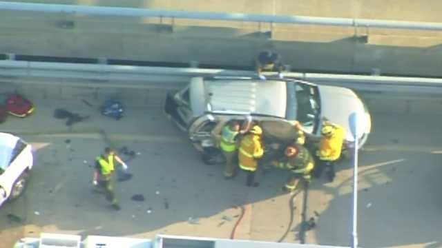 Parkway crash firefighters