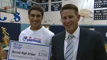 Burrell'sCole Bush with Channel 4 Action Sports' John Meyer