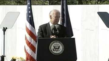 Vice President Joe Biden speaks at the 11th anniversary of the Flight 93 terrorist attack in Shanksville.