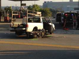 The crash happened on West Carson Street, not far from Station Square.