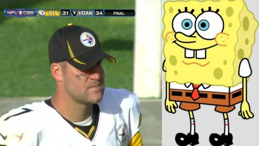 Ben Roethlisberger-SpongeBob SquarePants