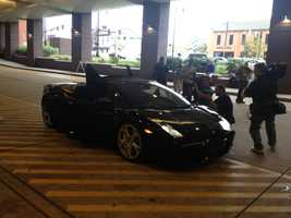 """The Batmobile pulls up to Children's Hospital of Pittsburgh, and """"Batman"""" pays a surprise visit to some young patients."""