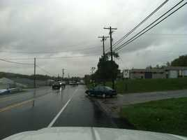 The National Weather Service said a brief tornado touchdown was reported Thursday afternoon in Washington County.