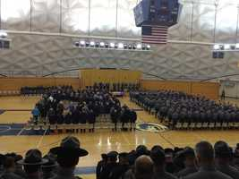 The funeral for Pennsylvania State Police Trooper Blake Coble.