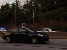 Several cars were involved in a rush-hour crash on Interstate 376 headed toward downtown Pittsburgh on Wednesday morning.