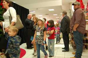 PITTSBURGH, PA - The Children arrive with the Salvation Army team to their very own room at the Macy's Ross Park for a big surprise... Each one of them got their very own personal shopper from the Pittsburgh Steelers!