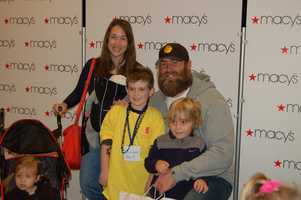 PITTSBURGH, PA - Brett Keisel, his family, and little shopping buddy