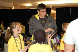 PITTSBURGH, PA - David Paulson signs autographs for the children