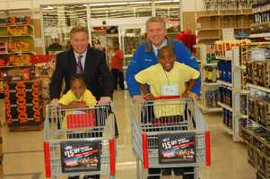 Chief Meteorologist Mike Harvey & Evening Anchor Mike Clark take off with their little shopping buddies for a fun shopping trip.