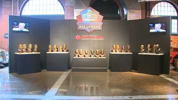 All 22 busts of Steelers enshrined in the Pro Football Hall of Fame are on display at the Heinz History Center  on Smallman Street through Monday.