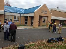 Derry Area High School was evacuated after a chemical reaction in a science lab injured a teacher.