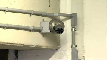 Surveillance cameras in the parking garage on Mosside Boulevard recorded the vandalism.