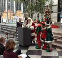 Santa Claus and his elves are coming to downtown Pittsburgh for Light Up Night. (See full schedule of events)