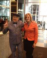 Mr. McFeely and WTAE reporter Janelle Hall