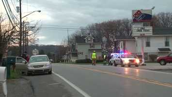 A 17-year-old boy was flown to a Pittsburgh hospital after being hit by a car Friday morning.