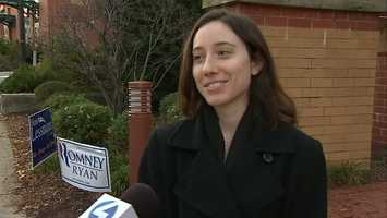 Voter Christina Rummel reported no problems at her polling place at the Jewish Community Center in Squirrel Hill.