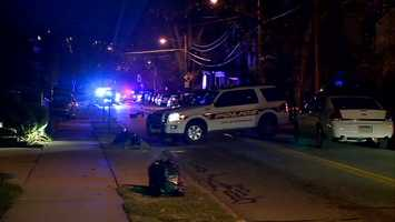 A driver was shot after allegedly dragging a Pittsburgh police officer during a traffic stop in Highland Park.