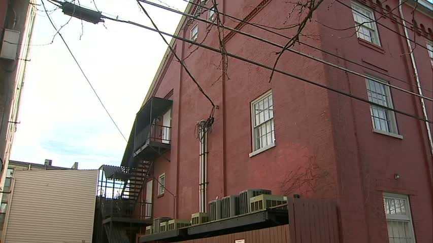 South Side fire escape balcony