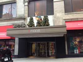 Macy's in Downtown Pittsburgh prepares for the 2012 holiday season.