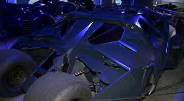 "The Tumbler model of the Batmobile driven by Christian Bale's Bruce Wayne in ""Batman Begins"" (2005) and ""The Dark Knight"" (2008)"