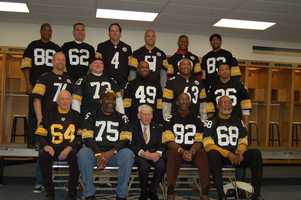 The Alumni with team owner, Art Rooney