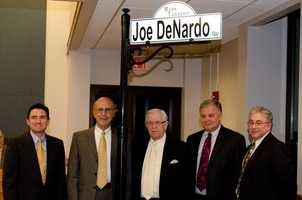 Joe DeNardo Way is the address of Moon Park in Moon Township. A street sign was posted in 2012.