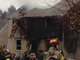 An early morning house fire in Ross Township occurs after a family completed their holiday shopping and went back to sleep. A neighbor woke them and got them out to safety. The Ross Township Fire Marshal says the fire began underneath the back porch.