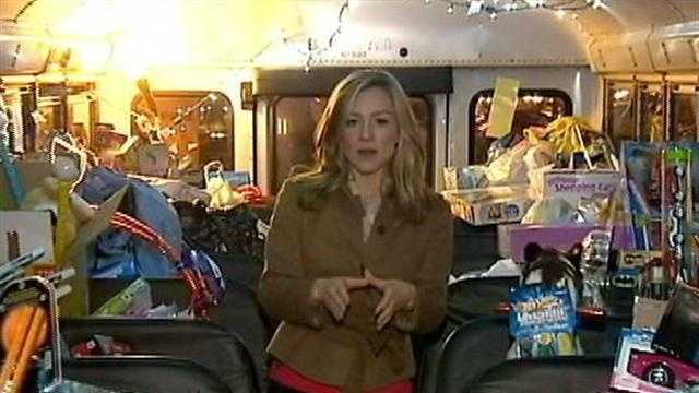 Hosts ask Pittsburgh to help stuff bus with toys