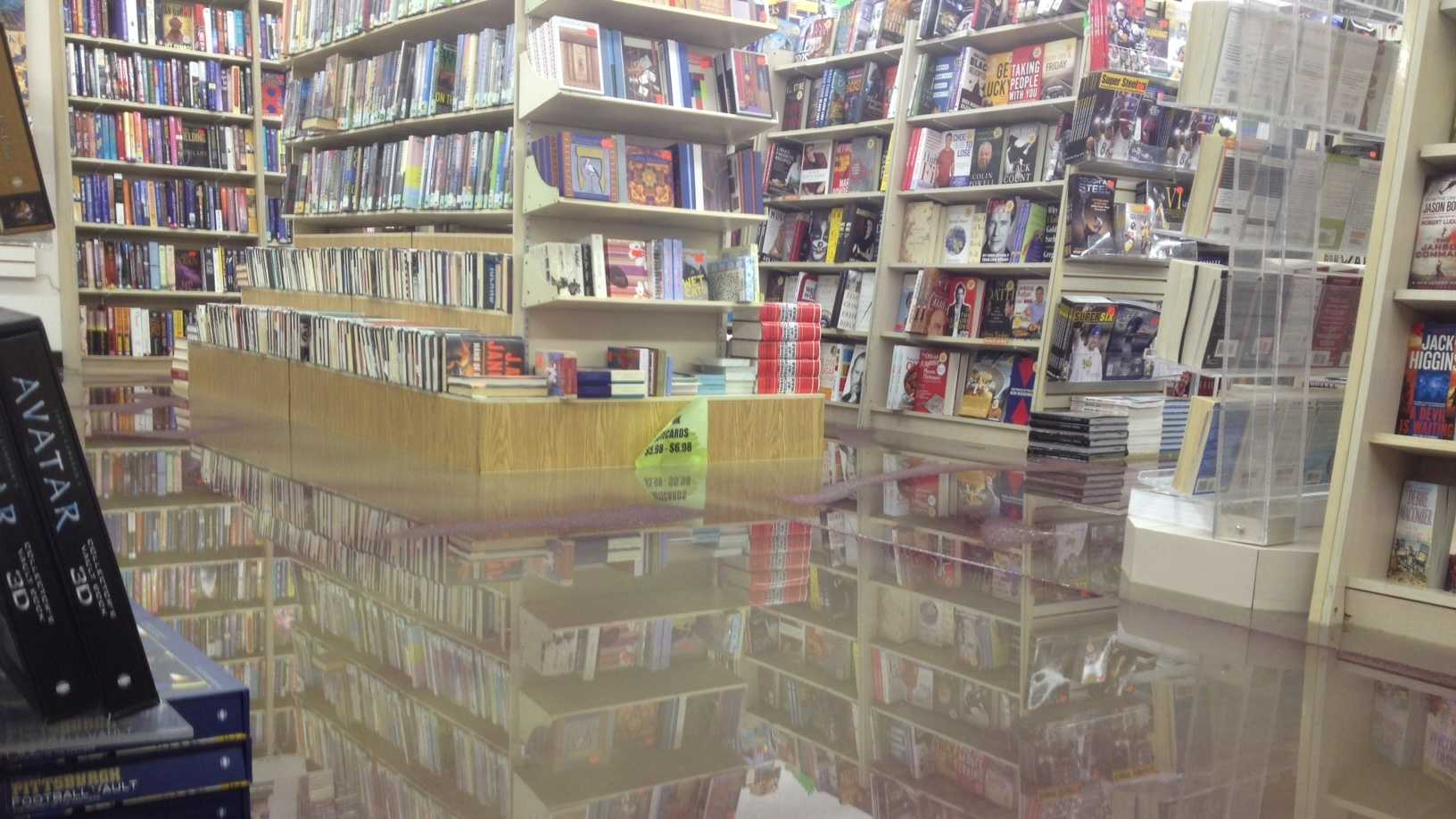 Bradley's Book Outlet flood