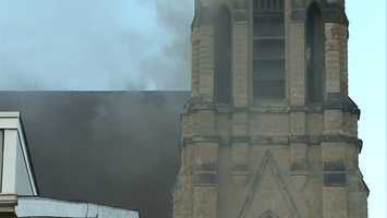 """""""We've had numerous fires in this building. The city does a great job in boarding it up, but vagrants and homeless people go inside and light it up,"""" said Pittsburgh Fire Department Battalion Chief Robert Cox."""