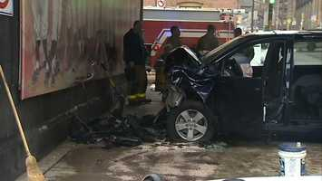 An officer at the scene told Channel 4 Action News the driver of the van was in critical condition.