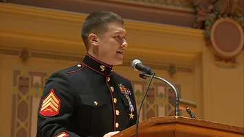 The Silver Star was awarded to Sgt. David Gerardi for combat valor with the Marines.